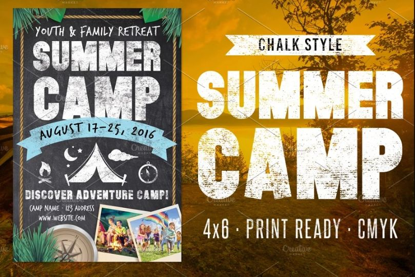 Print Ready Summer Camp Flyer