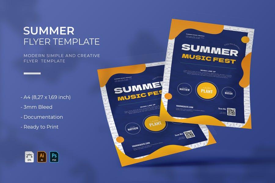 Print Ready Summer Event Flyers
