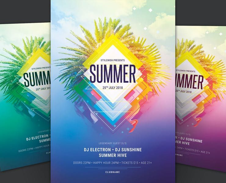 21+ Best Summer Flyer Template PSD and AI Download