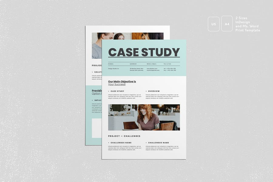 Professional Case Study Flyers