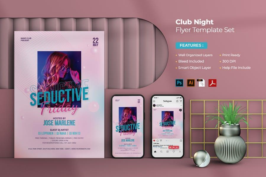 Professional Club Flyer Set