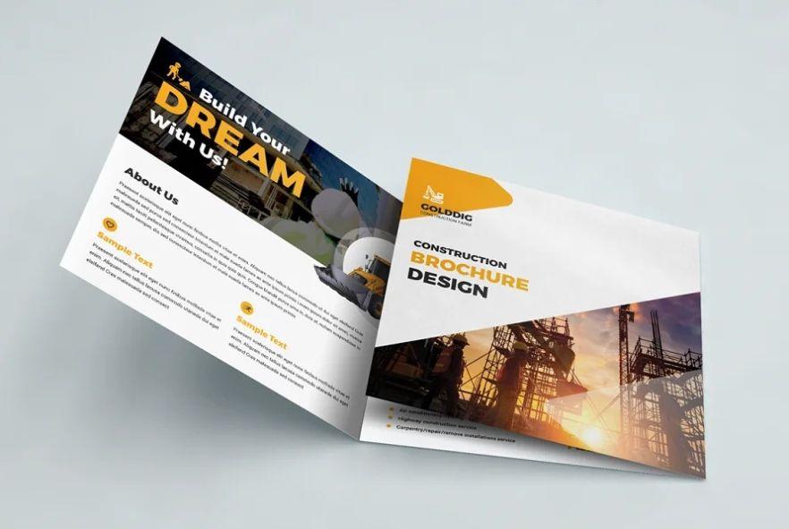 Professional Construction Brochure Template