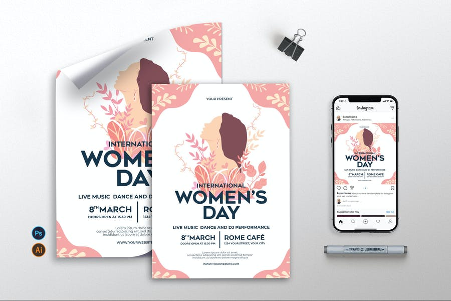 Professional Feminine Flyer Template
