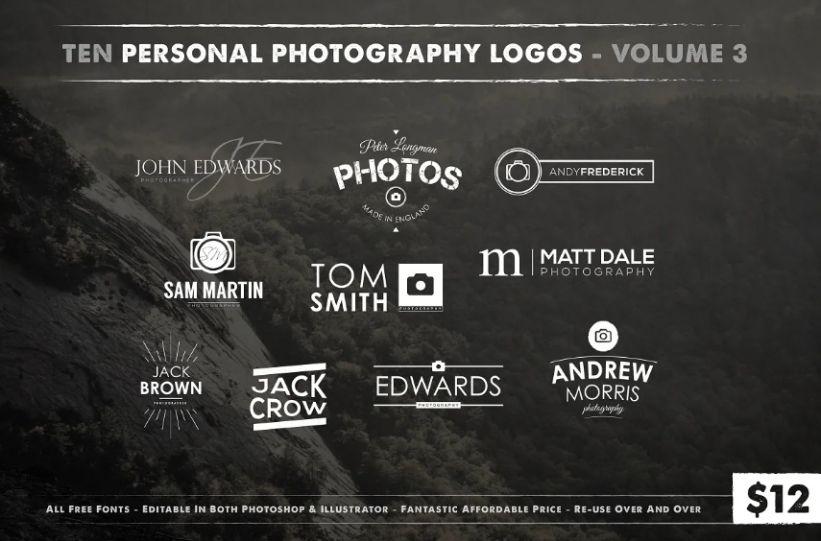 Professional Photography Logo Templates