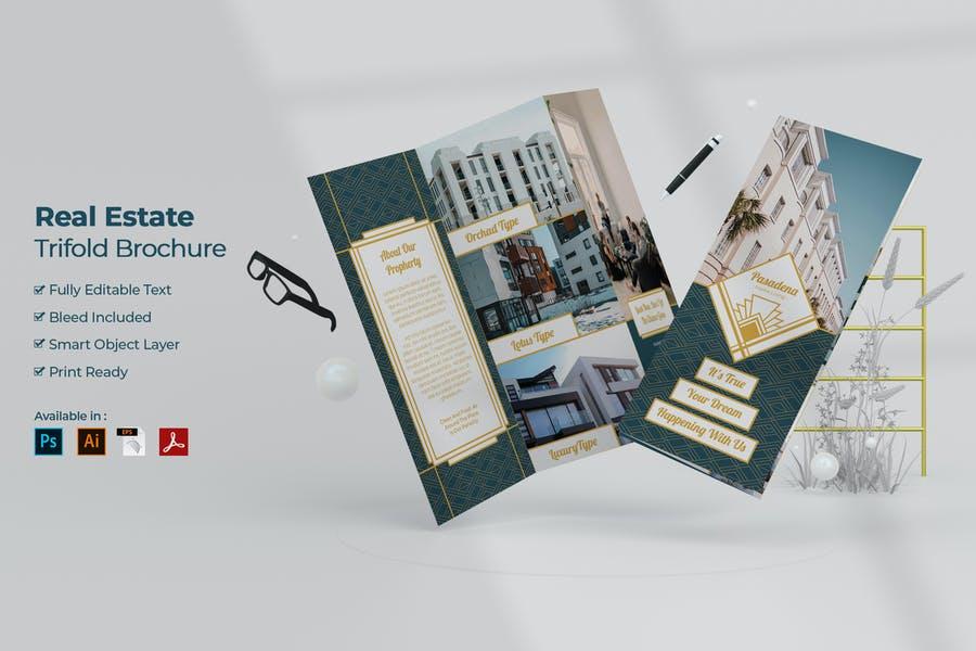 Professional Real Estate Tri Fold Brochure