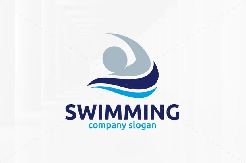 Professional Swimming Logo Template