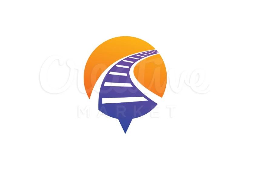 Railway Track Logo Designs