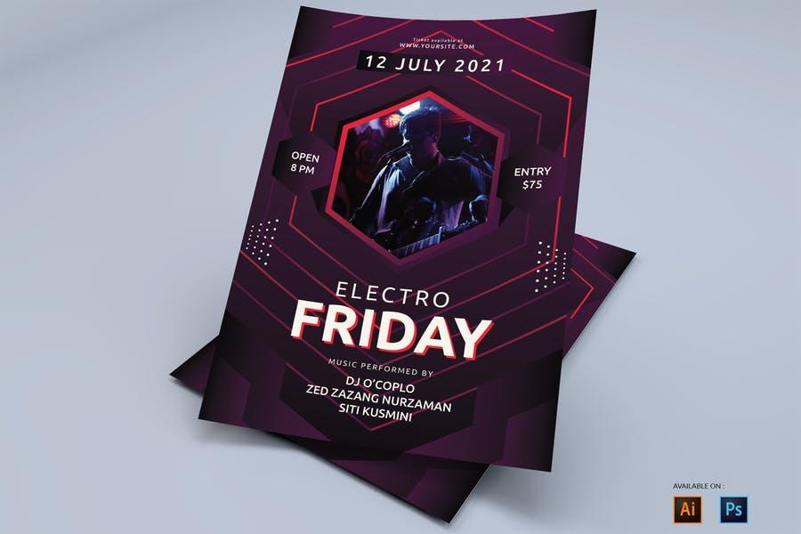 Rave Party Flyer Designs