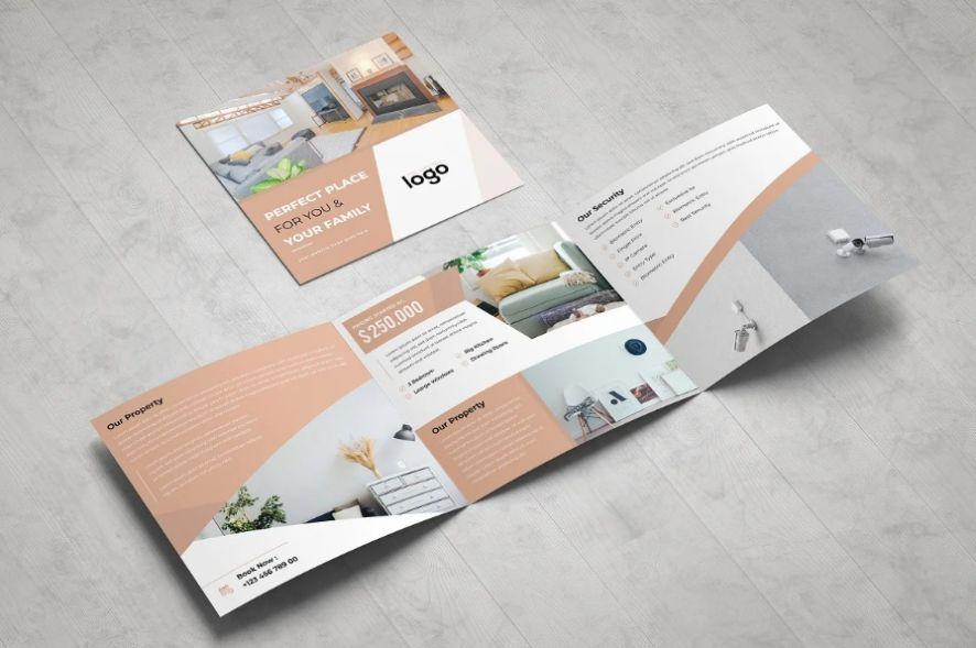 Real Estate Square Tri Fold Brochure
