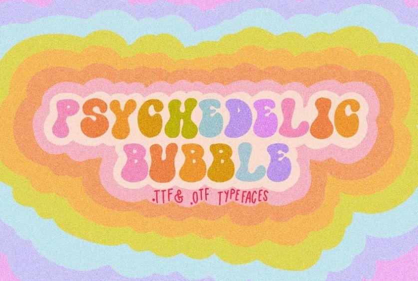Retro Bubble Fonts