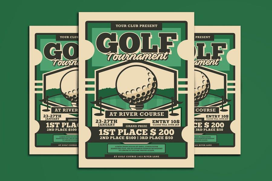Retro Editable Golf Flyer