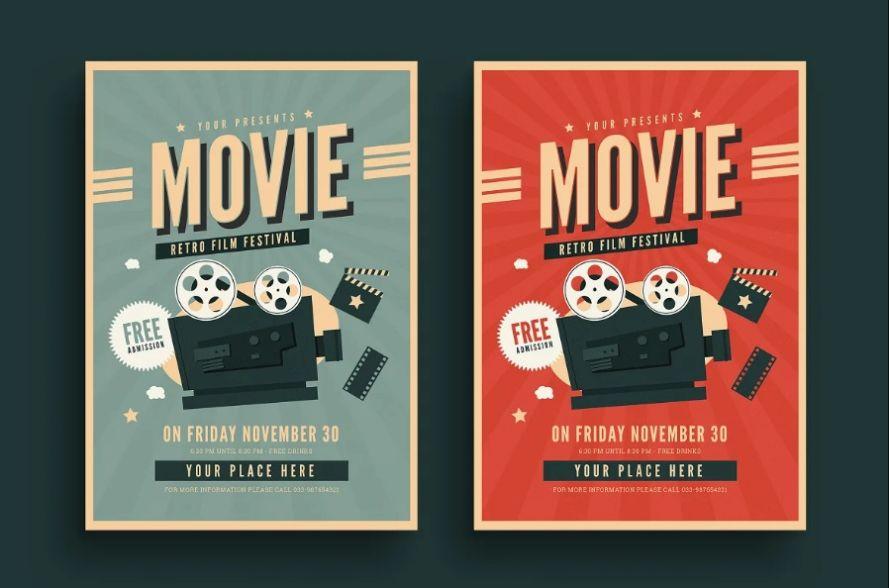 Retro Film Festival Flyer Template