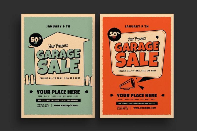 Retro Garage Sale Flyers