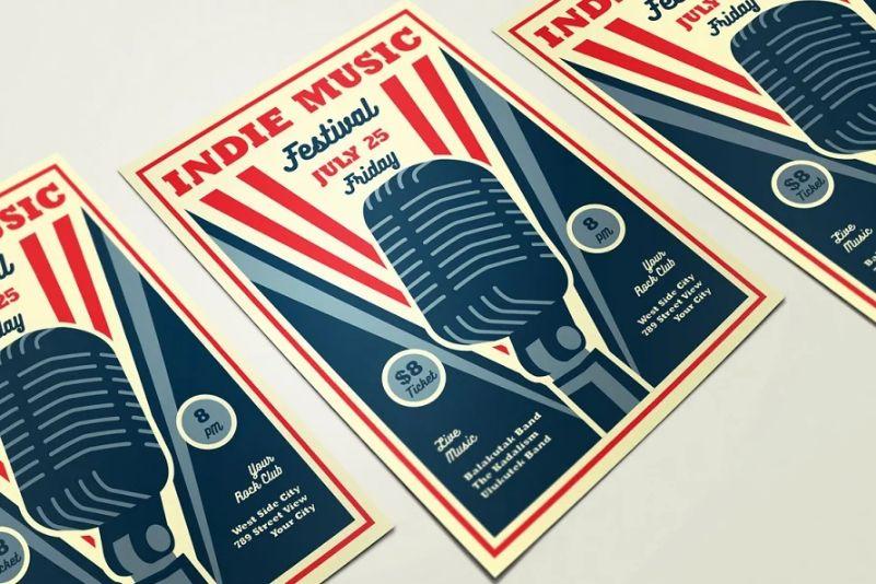 Retro Indie Music Flyer