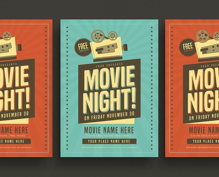 20+ Best Movie Night Flyer Template Download