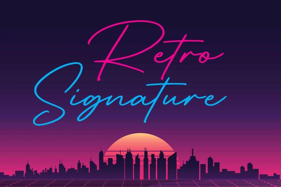 Retro Signature Typeface