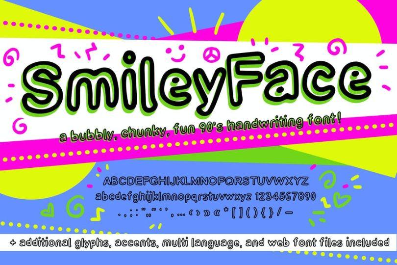 Retro Smiley Fonts