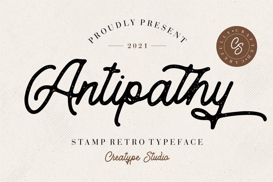 Retro Stamp Font