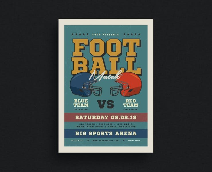 21+ Unique American Football Flyer Template Download