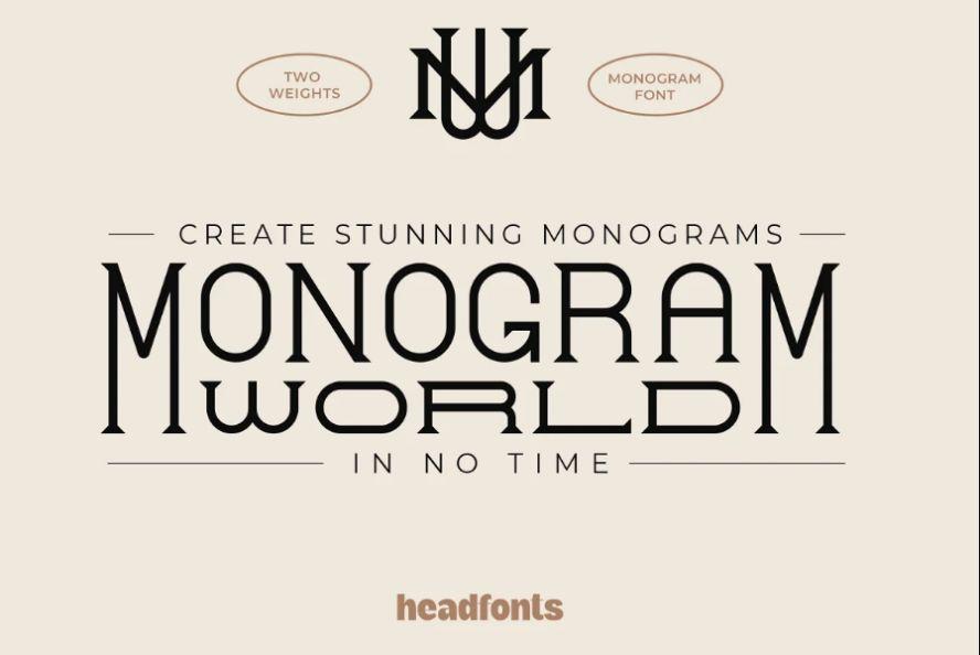 Retro Wedding Monogram fonts