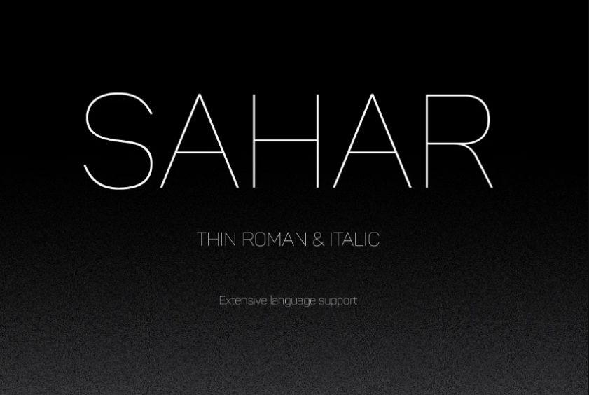 Roman and Italic Thin Typeface
