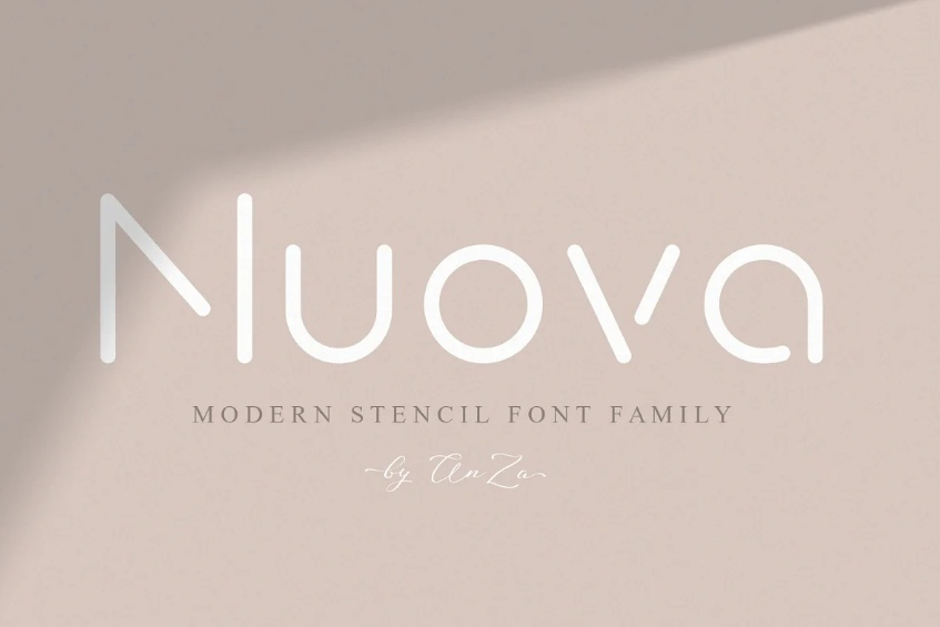 Rounded Stencil Font Family