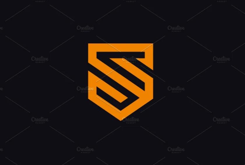 S Letter Shield Logo Design