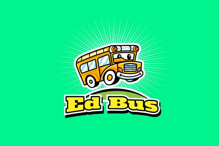 School Bus Mascot Logo