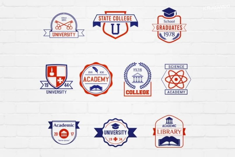 School and College Badges