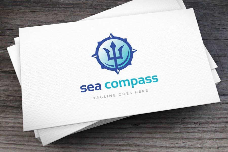 Sea Compass Logo Template