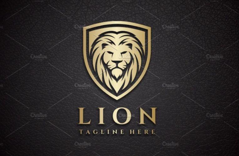 Shield Lion Logo Design