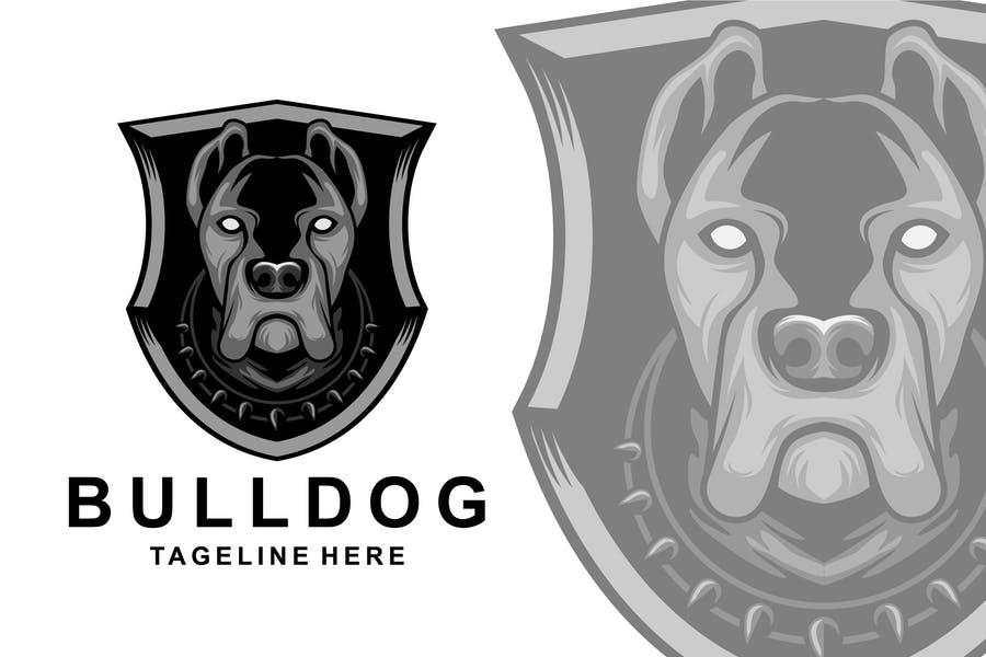 Shield Style Bulldog Logo