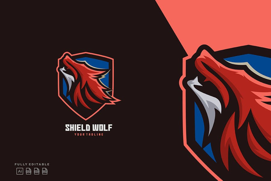 Shield Style Sports Logo