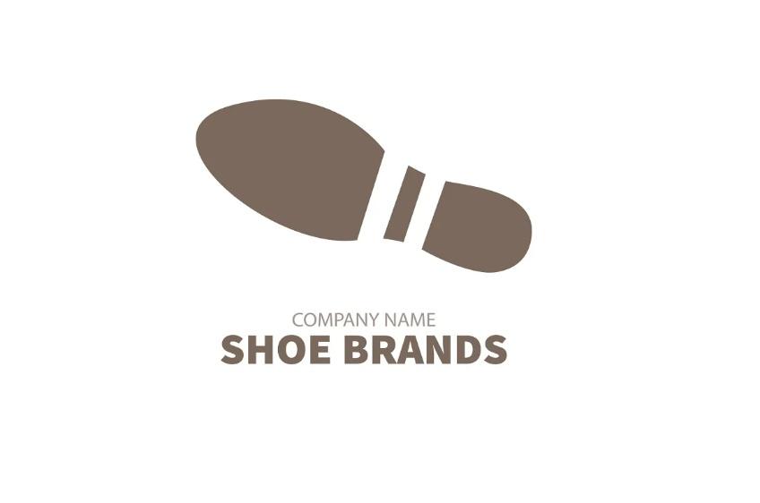 Shoe Stamp Logo Design Template
