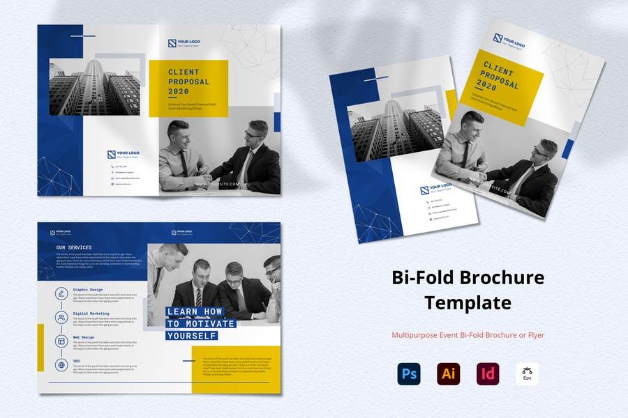 Simple Bi Fold Brochure Template