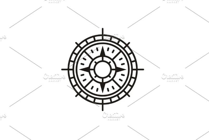 Simple Compass Illustration Design