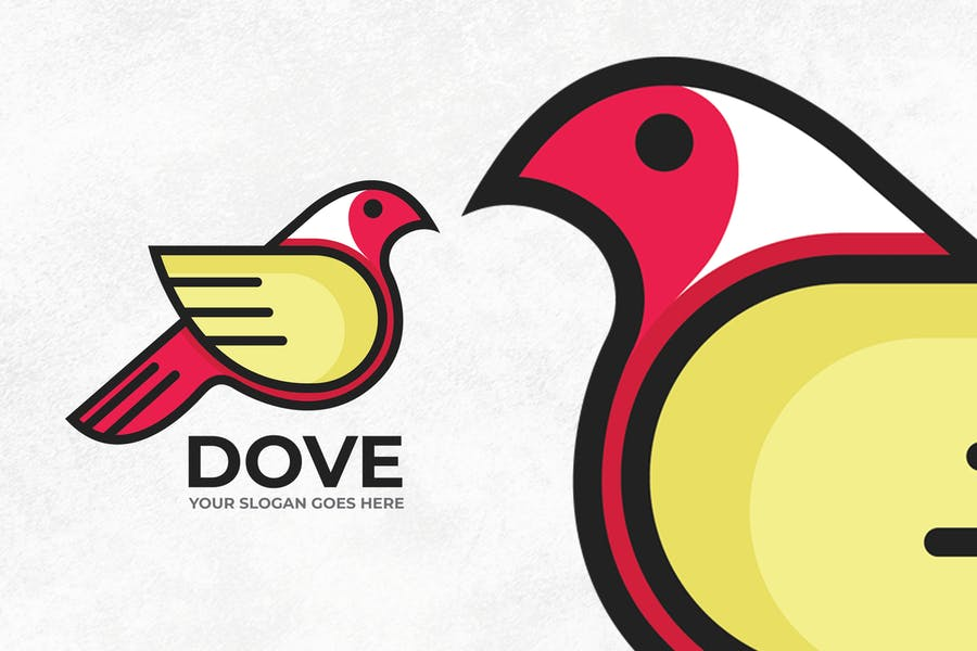 Simple Dove Logo Template