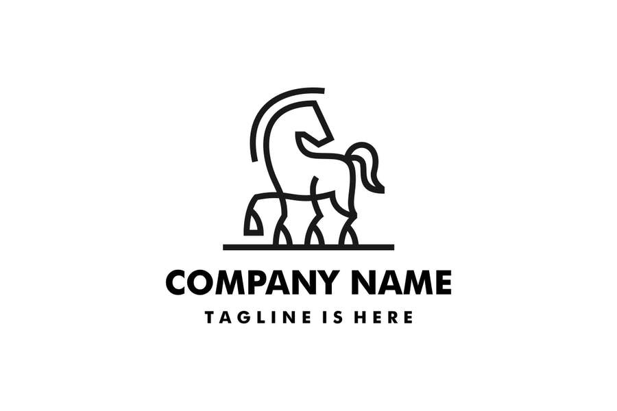 Simple Horse Logo Template