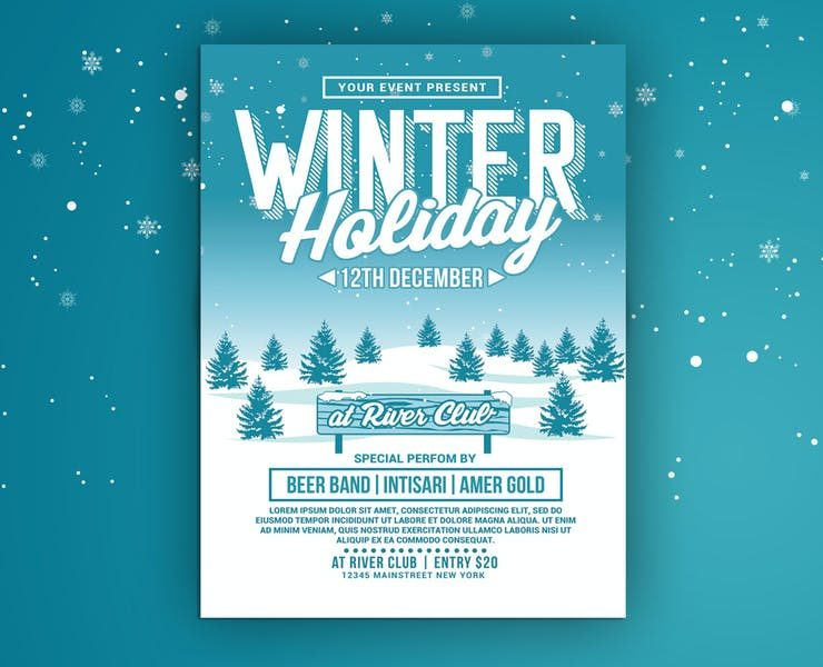 15+ Best Winter Holidays Flyer Template Download