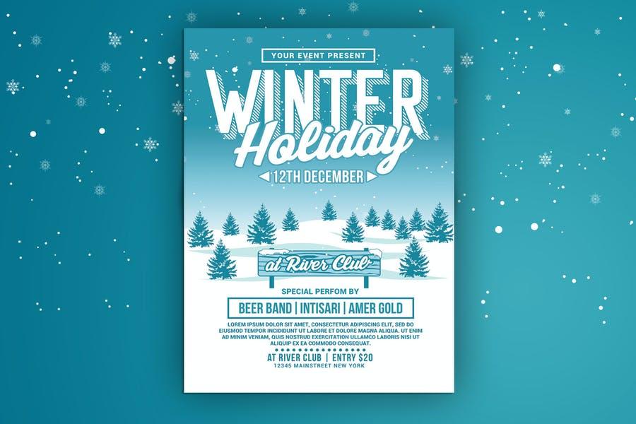 Sketch Style Winter Flyer