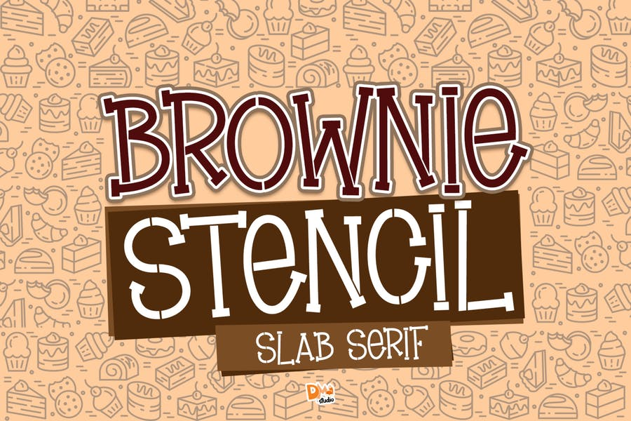 Slab Serif Stencil Typeface