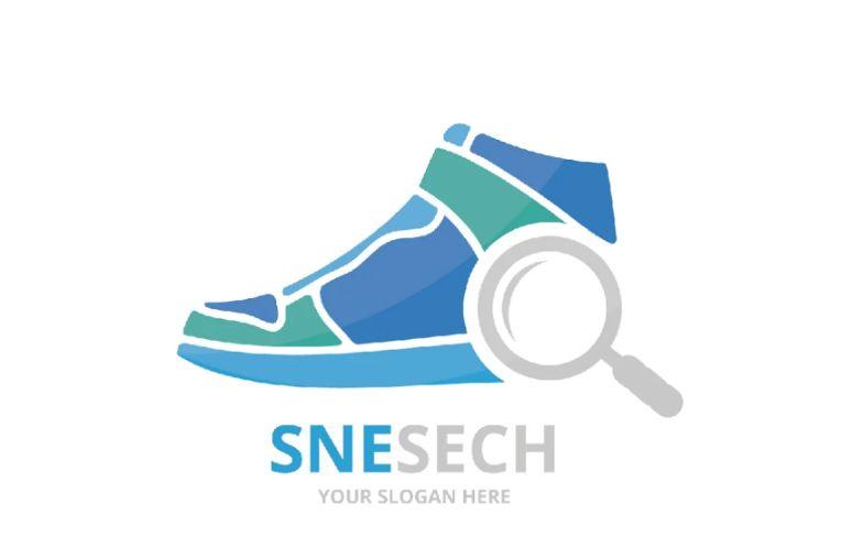 Sneakers Logo Design Template