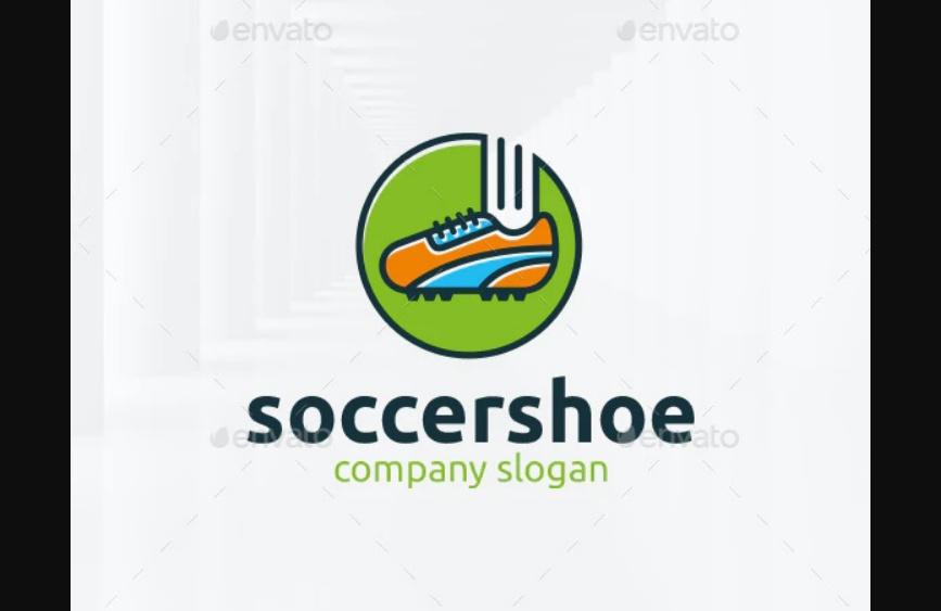 Soccer Shoe Logo Template