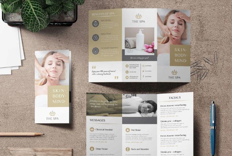 20+ Best Spa Tri Fold Brochure Templates Download