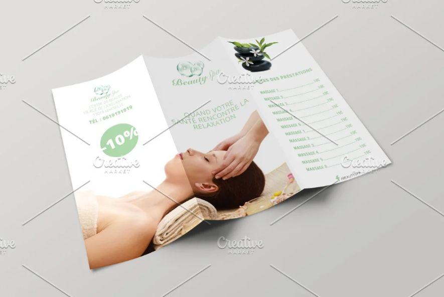 Spa Treatment Brochure Template