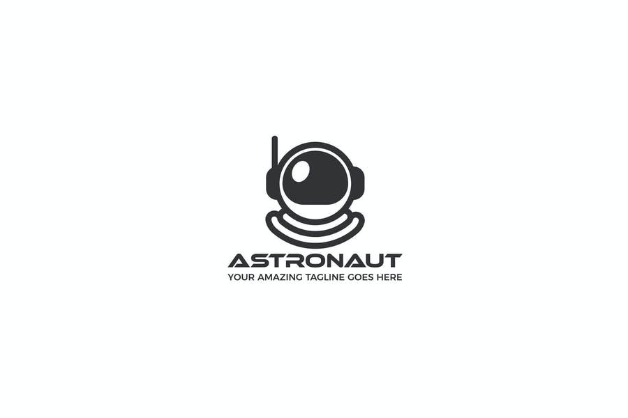 Spaceman Logo Design Idea