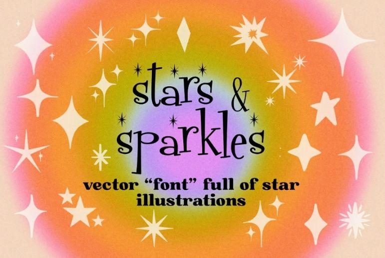 Sparkles Illustration Fonts