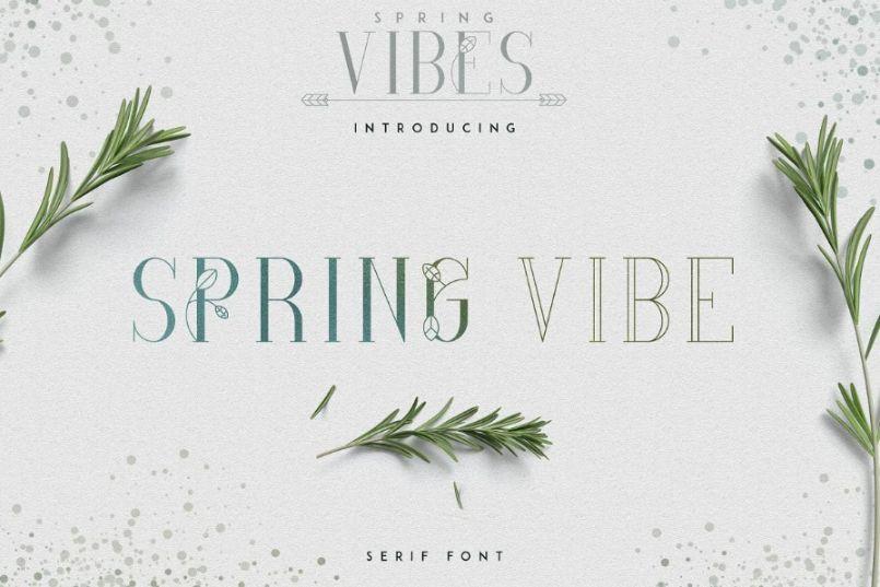 Spring Vibes Feminine Fonts
