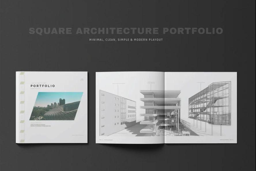 Square Architectural Brochure Template