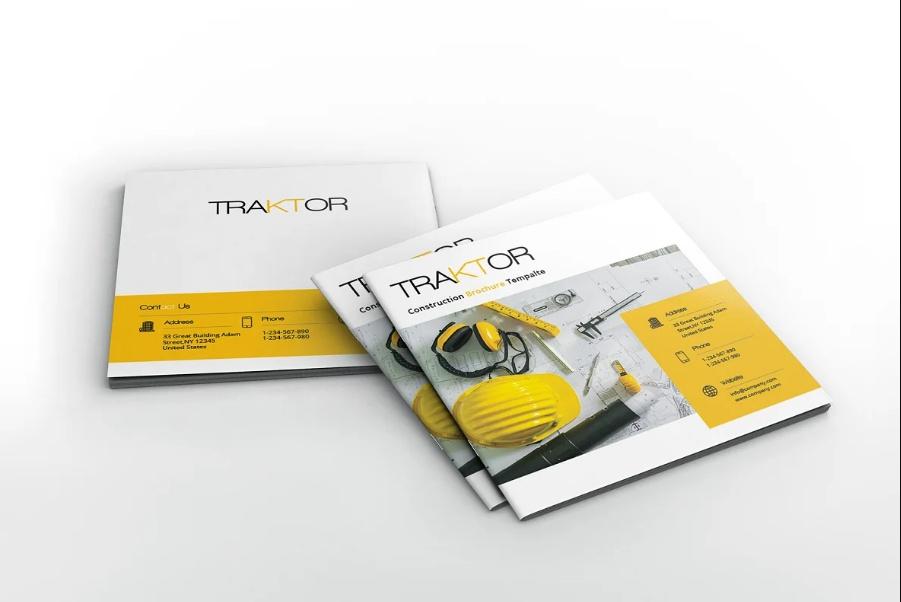 Square Construction Brochure Template